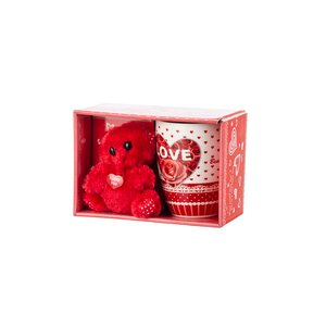 Smile Set with Mug and Bear, Red Color