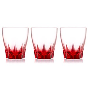 Decover Camelot Set of Stemless Drinking Glasses Red Color 28.5 Cl