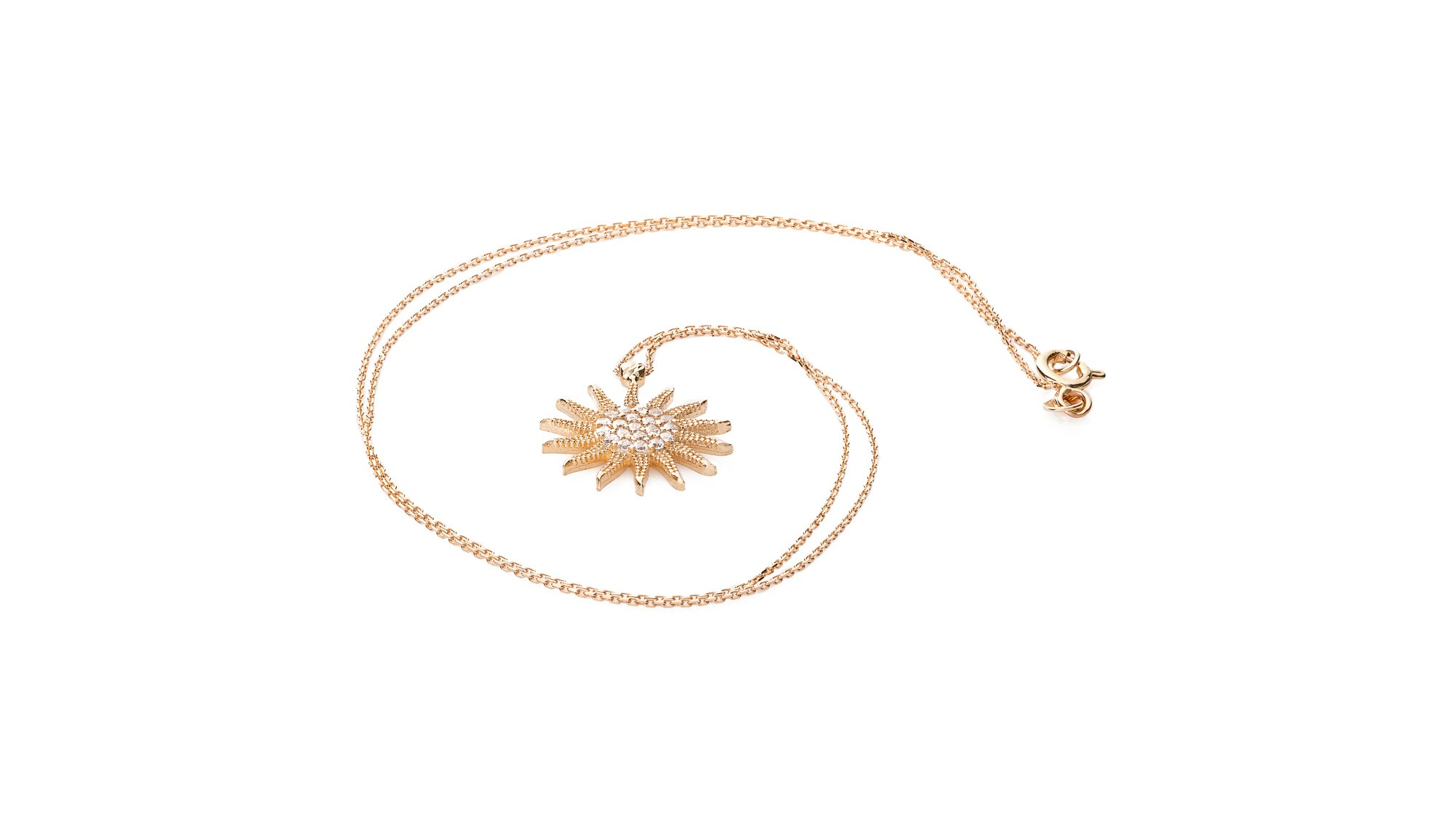 Italgold Gold Necklace with Sun Medallion