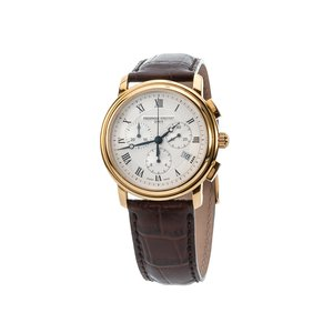 Frederique Constant Persuasion Wristwatch with Brown Leather Strap