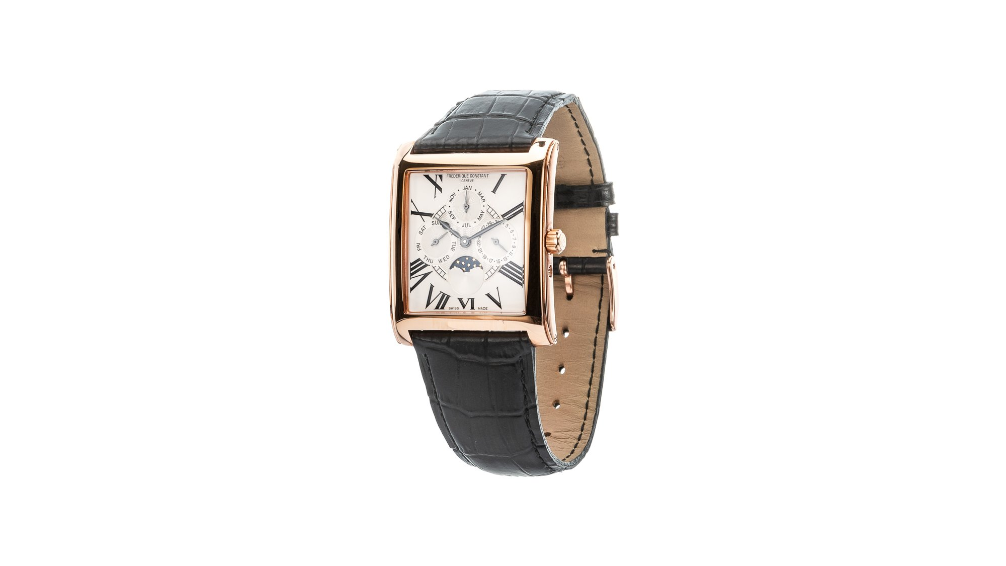 Frederique Constant Moonphase Wristwatch with Leather Strap