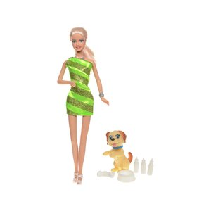 Defa Toys Doll Lucy with Her Puppy